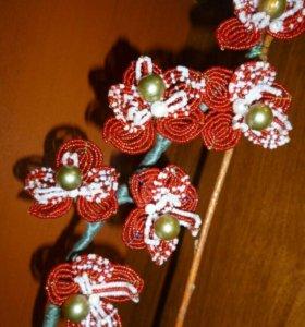 Архидея из бисера
