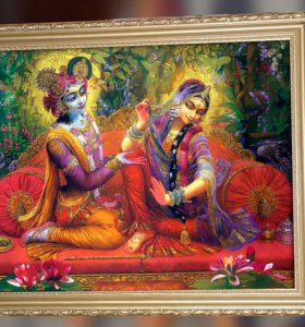 Картина Радха и Кришна