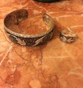Новый кубачинский серебряный комплект