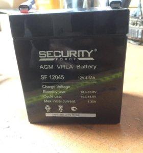 Аккумулятор SECURITY FORCE SF12045 AGM