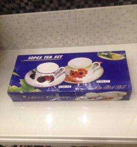 Чайный сервиз ( фарфор)Новый
