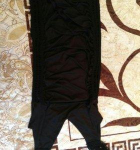 Черное коктельное платье кружевное