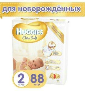 Памперсы Подгузники Huggies Elite Soft 2 (4-7 кг)