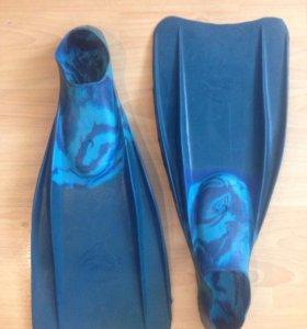 Ласты дельфин 2, размер 35-37 синие