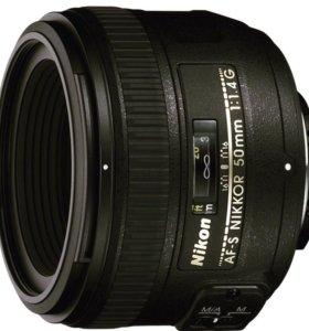 Обьектив Nikon 50мм f1.4G