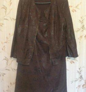 Пиджак на молнии с юбкой