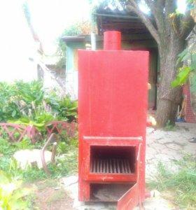 Котел электрический (можно топить дровами)