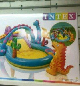Надувной бассейн Диноленд Intex