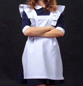Школьное платье с фартуком