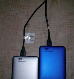 Внешние жесткие диски WD по 500 Гб