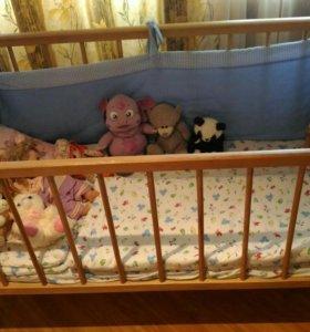 Кровать детская. Матрац (3,4 фото).