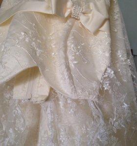 Свадебное платье 44-48корсет