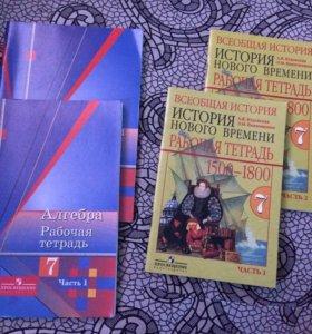 Рабочая тетрадь 7 класс Алгебра, История