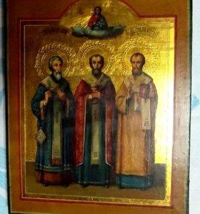 Икона Св. Василий, Св. Григорий, Св. Златоуст