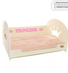 Лежак-кровать для маленьких собак и кошек