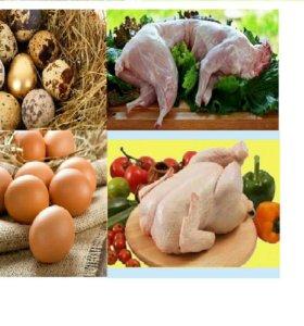 Мясо и яйца с домашней фермы