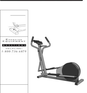 Pro Form Low Impact Elliptical Exerciser 485E