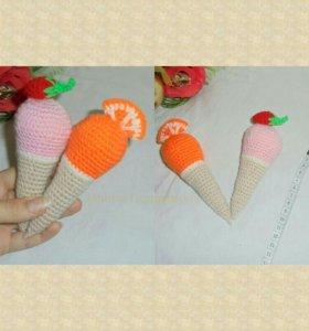 Набор вязанных мороженок)