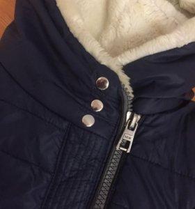Синяя детская куртка 38 размер зимняя