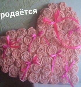 Сердце на свадьбу из гофрированной бумаги