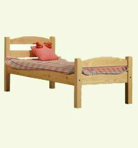 Кровать дерево спинка дуга
