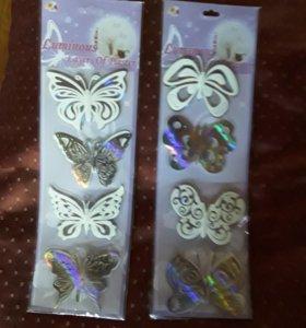 """Наклейка светящаяся """"Бабочки"""""""