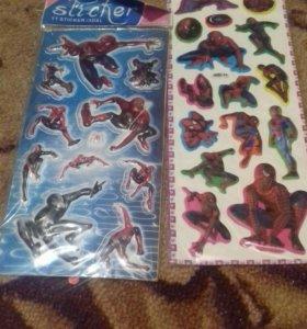 Наклейки для мальчиков Человек-паук