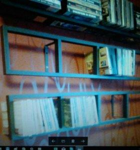 Полки навесные под диски и книги
