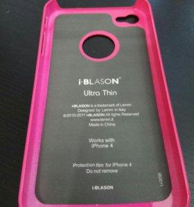 Фирменный чехол накладка на Iphone 4 и 4S новый