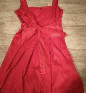 Красное платье +жакет (14-16)лет