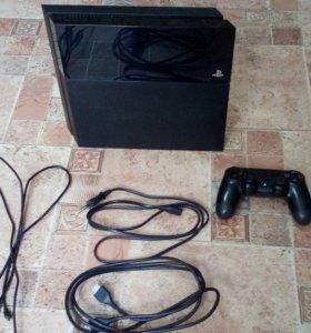 PlayStation 4 500 гб + 7 игр джойстик все провода