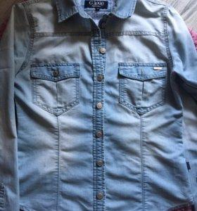 Рубашка джинсовая, размер 36