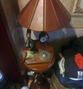 Торшер-телефон-будильник