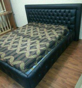 Кровать с каретной утяжкой