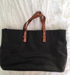 Чёрная сумка Zara