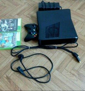 Xbox 360 на 500гб 2 игры и 10 игр на самом Xbox
