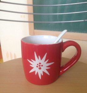 Чашка с ложкой 2ш