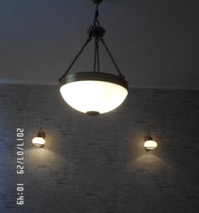 """Люстра """"под старину""""  и два настенных светильника"""