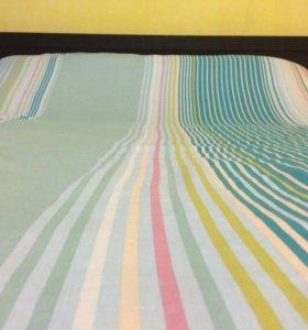 Кровать двуспальная (натуральный шпон )