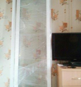 Продаю балконный блок новый окно 150/150, дверь