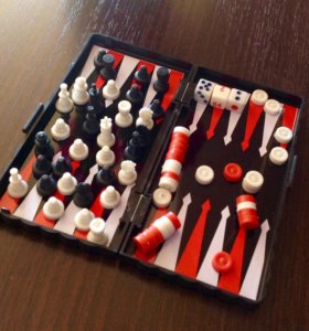 Складные мини шахматы + шашки