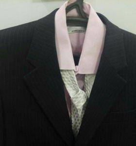 Мужской костюм, брюки+пиджак, 46-48