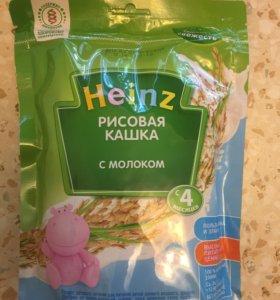 Heinz Гречневая 3шт и Рисовая 2шт кашка с молоком