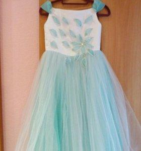 Выпускное платье,бирюзовое