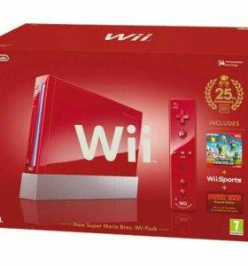 Nintendo Wii (красная)