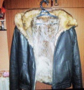 """Новая мужская натуральная кожаная куртка """"Ангел"""""""