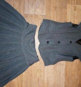 школьная форма (юбка+ жилетка)