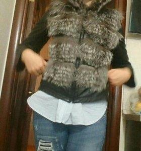 Куртка кожаная + подарочек
