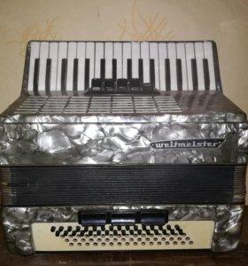 Аккордеон weltmiester + бонусом клавиши для правой