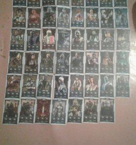 Карточки мортал комбат 7 коллекция